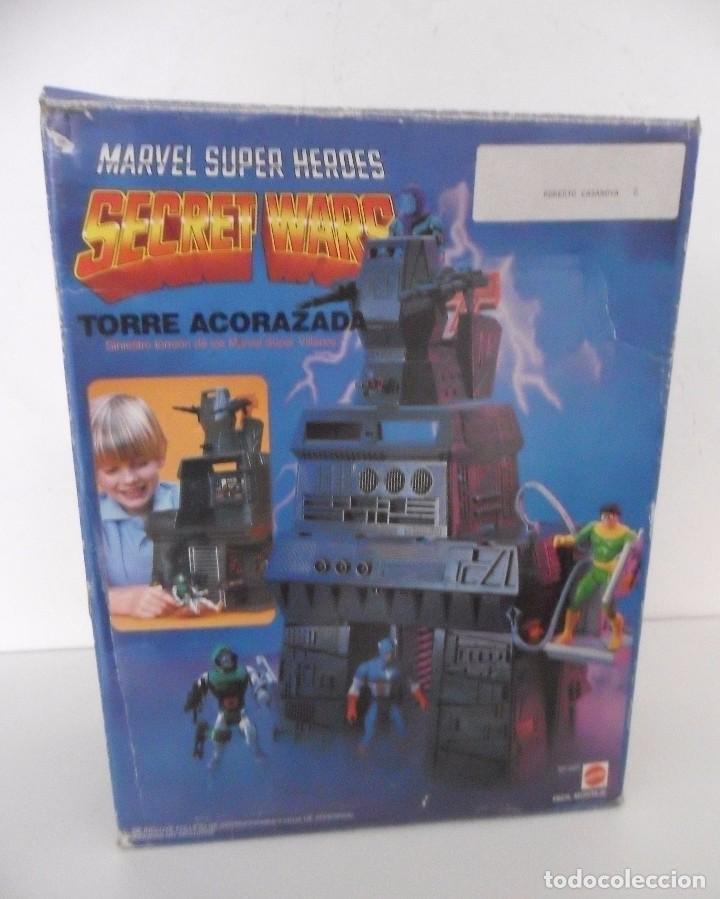 Figuras y Muñecos Secret Wars: MARVEL SUPER HEROES SECRET WARS TORRE ACORAZADA CON CAJA MATTEL 1984 - Foto 5 - 195217270