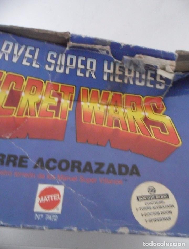 Figuras y Muñecos Secret Wars: MARVEL SUPER HEROES SECRET WARS TORRE ACORAZADA CON CAJA MATTEL 1984 - Foto 6 - 195217270