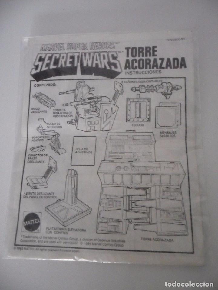 Figuras y Muñecos Secret Wars: MARVEL SUPER HEROES SECRET WARS TORRE ACORAZADA CON CAJA MATTEL 1984 - Foto 16 - 195217270