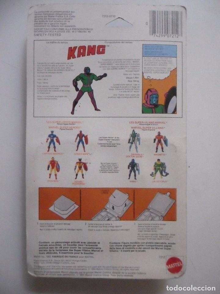 Figuras y Muñecos Secret Wars: MARVEL SECRET WARS KANG EN BLISTER BILINGUE MATTEL 1984 - Foto 8 - 195220106
