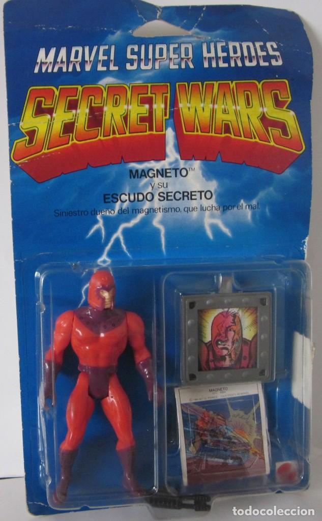MARVEL SUPER HEROES - SECRET WARS: MAGNETO Y SU ESCUDO SECRETO - REF: 7211 ***MATTEL*** (Juguetes - Figuras de Acción - Secret Wars)