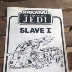 Figuras y Muñecos Secret Wars: STAR WARS SLAVE 1 INSTRUCCIONES. SLAVE I. BOBA FETT. PALITOY. 1983. GERRA DE LAS GALAXIAS.. Lote 204349433