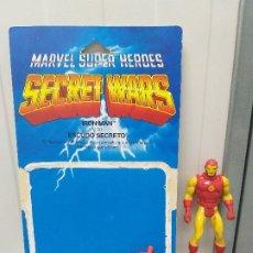 Figuras y Muñecos Secret Wars: FIGURA DE ACCION IRON MAN SECRET WARS CON BLISTER ESPAÑOL Y ESCUDO MARVEL. Lote 206823005
