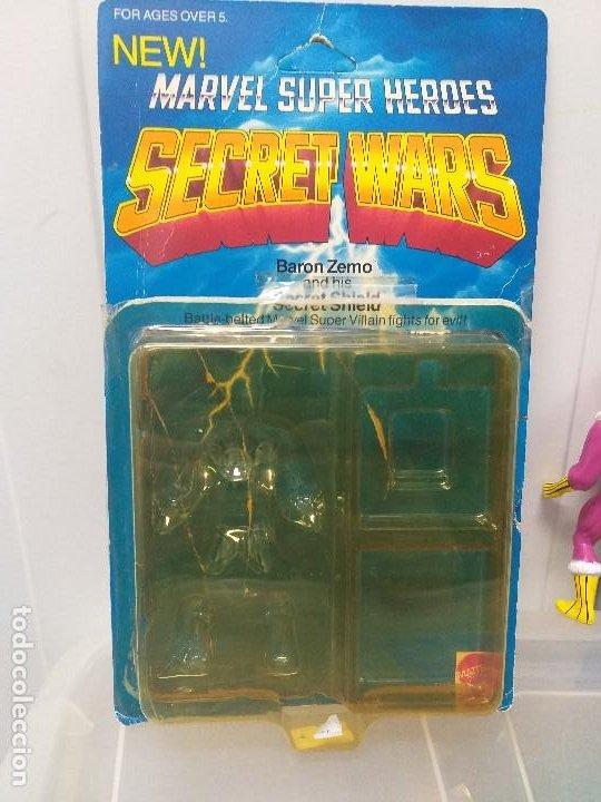 Figuras y Muñecos Secret Wars: figura de accion baron zemo secret wars blister americano con burbuja y escudo marvel - Foto 5 - 206824256