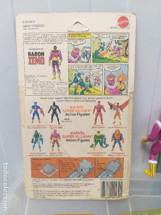 Figuras y Muñecos Secret Wars: figura de accion baron zemo secret wars blister americano con burbuja y escudo marvel - Foto 8 - 206824256