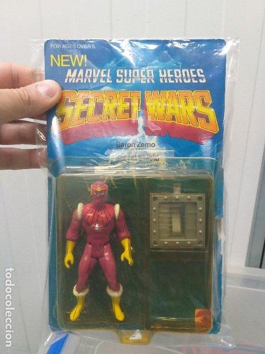 Figuras y Muñecos Secret Wars: figura de accion baron zemo secret wars blister americano con burbuja y escudo marvel - Foto 13 - 206824256