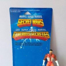 Figuras y Muñecos Secret Wars: FIGURA DE ACCION FALCON SECRET WARS CON BLISTER FRANCES Y ESCUDO MARVEL MATTEL. Lote 207861043