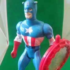 Figurines et Jouets Secret Wars: MARVEL SECRET WARS CAPITAN AMERICA MATTEL FRANCE 1984 CON ESCUDO Y HOLOGRAMA FIGURA. Lote 213916297