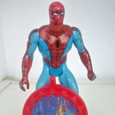 Figuras y Muñecos Secret Wars: MARVEL SECRET WARS SPIDERMAN MATTEL FRANCE 1984 + ESCUDO + HOLOGRAMA. Lote 214828248