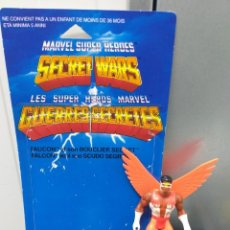 Figurines et Jouets Secret Wars: FIGURA DE ACCION MARVEL SECRET WARS FALCON BLISTER FRANCES, ESCUDO Y FIGURA FRANCE VINTAGE AÑOS 80. Lote 216389255