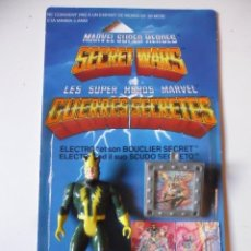 Figuras y Muñecos Secret Wars: MARVEL SECRET WARS ELECTRO COMPLETO + CARD MATTEL FRANCE 1984. Lote 218901320