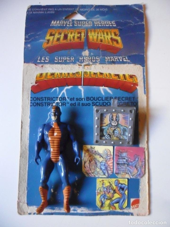 MARVEL SECRET WARS CONSTRICTOR CASI COMPLETO + CARD MATTEL FRANCE 1984 (Juguetes - Figuras de Acción - Secret Wars)