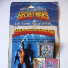 Figuras y Muñecos Secret Wars: MARVEL SECRET WARS CONSTRICTOR CASI COMPLETO + CARD MATTEL FRANCE 1984. Lote 218901571