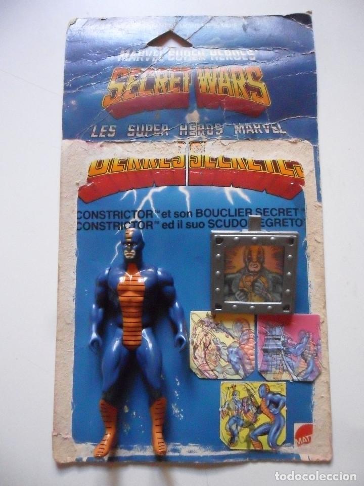 Figuras y Muñecos Secret Wars: MARVEL SECRET WARS CONSTRICTOR CASI COMPLETO + CARD MATTEL FRANCE 1984 - Foto 2 - 218901571