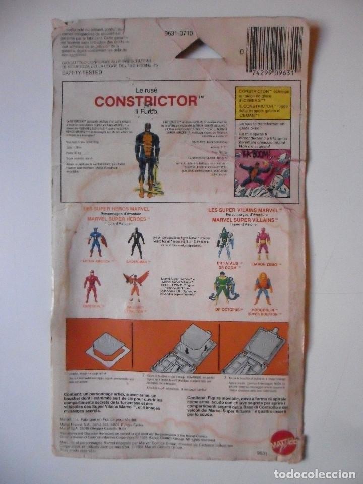 Figuras y Muñecos Secret Wars: MARVEL SECRET WARS CONSTRICTOR CASI COMPLETO + CARD MATTEL FRANCE 1984 - Foto 4 - 218901571