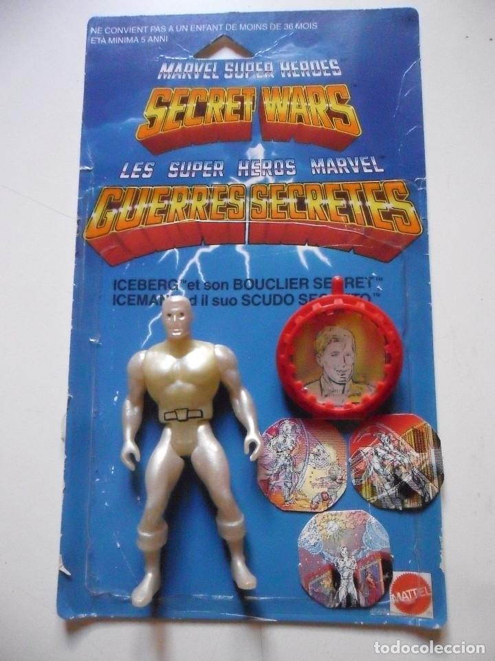 Figuras y Muñecos Secret Wars: MARVEL SECRET WARS ICEMAN COMPLETO + CARD MATTEL FRANCE 1984 - Foto 2 - 218901773