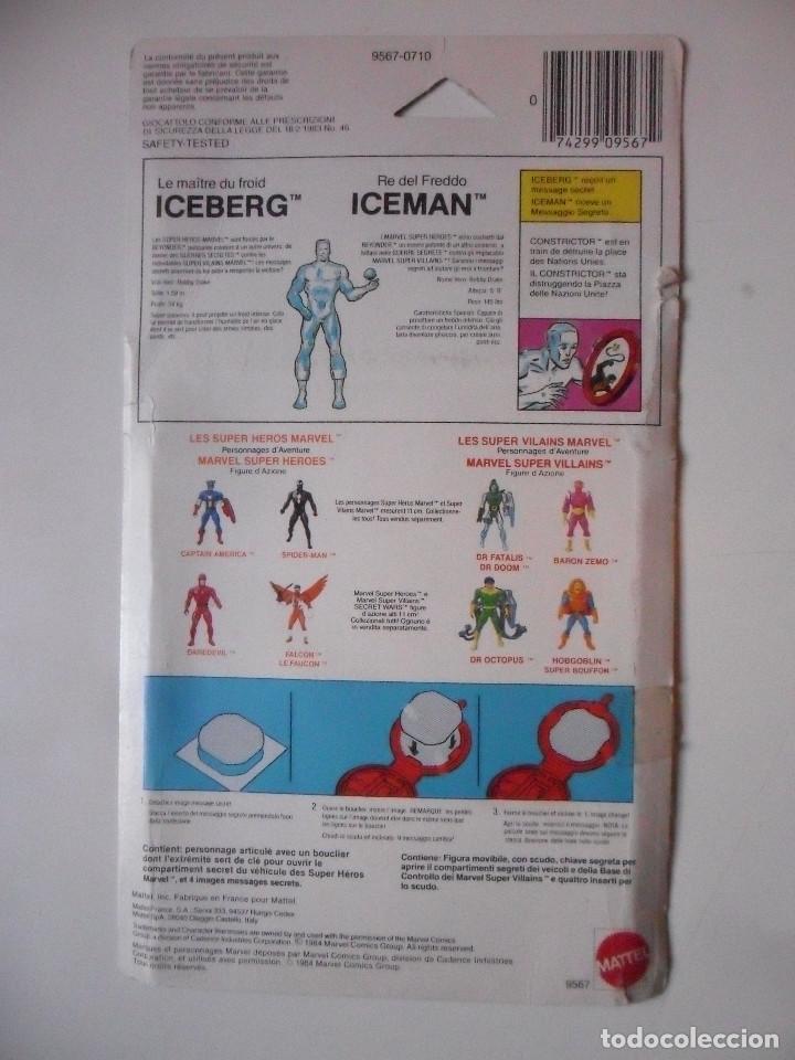 Figuras y Muñecos Secret Wars: MARVEL SECRET WARS ICEMAN COMPLETO + CARD MATTEL FRANCE 1984 - Foto 4 - 218901773