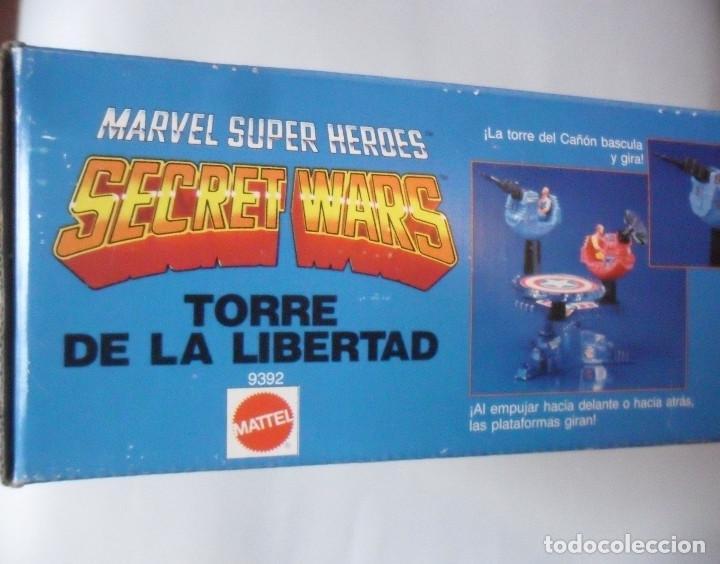 Figuras y Muñecos Secret Wars: MARVEL SECRET WARS TORRE DE LA LIBERTAD MATTEL ESPAÑA 1985 - Foto 2 - 219208051