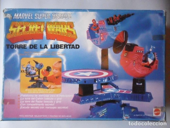 Figuras y Muñecos Secret Wars: MARVEL SECRET WARS TORRE DE LA LIBERTAD MATTEL ESPAÑA 1985 - Foto 3 - 219208051