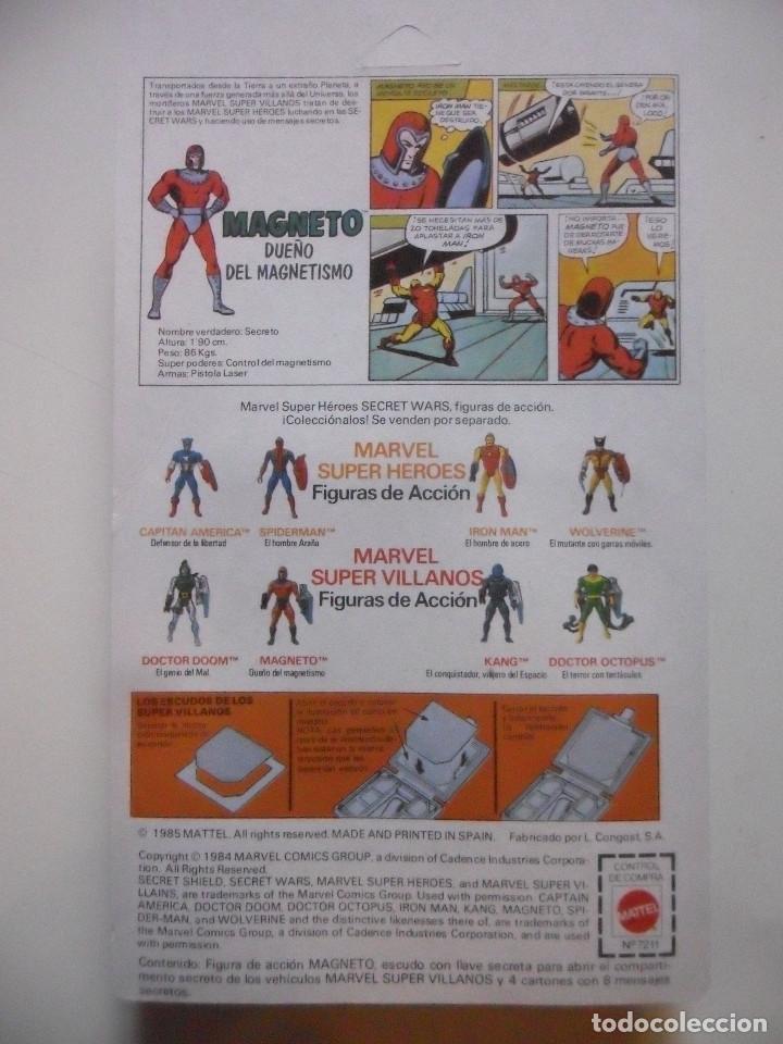 Figuras y Muñecos Secret Wars: MARVEL SECRET WARS MAGNETO MATTEL ESPAÑA 1985 - Foto 7 - 219208601