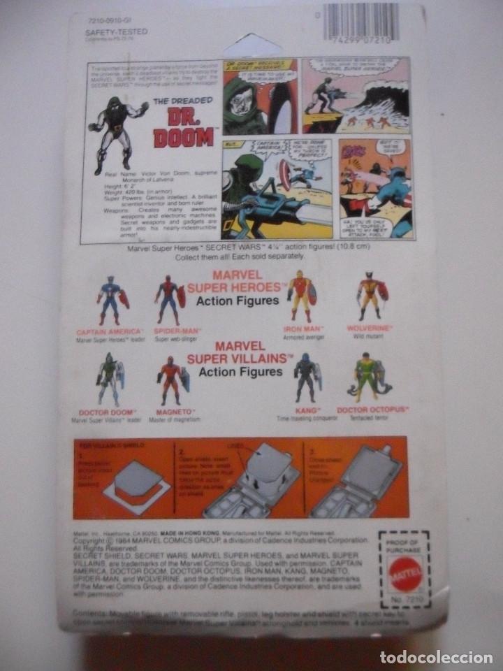 Figuras y Muñecos Secret Wars: MARVEL SECRET WARS DOCTOR DOOM EN BLISTER MATTEL 1984 - Foto 6 - 219856858