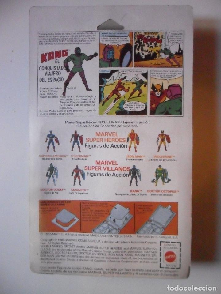 Figuras y Muñecos Secret Wars: MARVEL SECRET WARS KANG BLISTER SEGUNDA EDICION ESPAÑA MATTEL 1984 - Foto 5 - 219857318