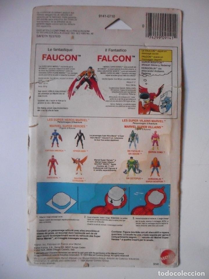Figuras y Muñecos Secret Wars: MARVEL SECRET WARS FALCON COMPLETO MATTEL FRANCE 1984 - Foto 11 - 223263041