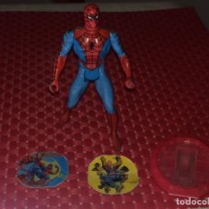 Figuras e Bonecos Secret Wars: MARVEL SECRET WARS - SPIDERMAN - ESCUDO Y 2 HALOGRAMAS - MATTEL - FRANCE - 1983. Lote 232823110