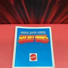 Figuras y Muñecos Secret Wars: CATALOGO FOLLETO FICHAS MARVEL SUPERHEROES SECRET WARS MATTEL VINTAGE AÑOS 80 NUEVO A ESTRENAR. Lote 243067480