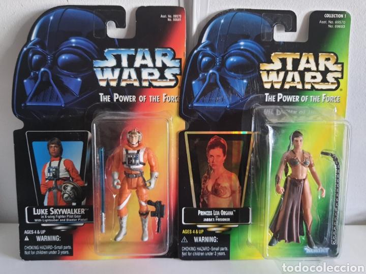 STAR WARS THE POWER OFTHE FORCE LUKE Y LEIA KENNER ANTIGUAS (Juguetes - Figuras de Acción - Secret Wars)