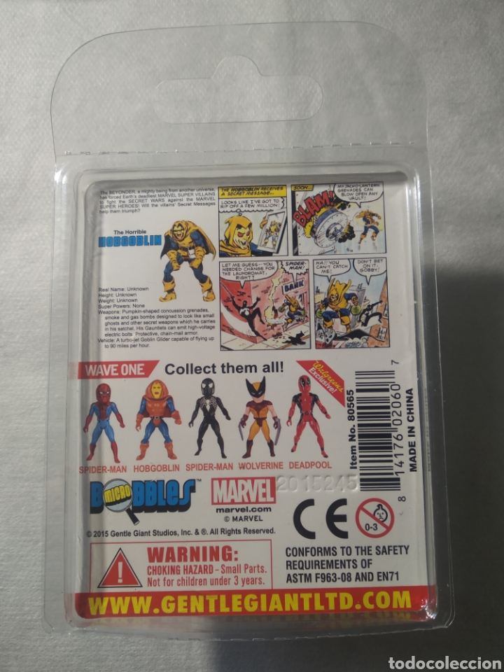 Figuras y Muñecos Secret Wars: Completa ! Lote MARVEL SUPER HÉROES SECRET WARS Micro Bobbles by Gentle Giant Deadpool HOBGOBLIN, - Foto 4 - 253789775