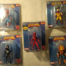 Figuras y Muñecos Secret Wars: COMPLETA ! LOTE MARVEL SUPER HÉROES SECRET WARS MICRO BOBBLES BY GENTLE GIANT DEADPOOL HOBGOBLIN,. Lote 253789775