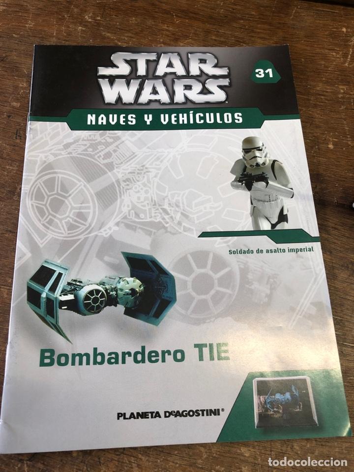 Figuras y Muñecos Secret Wars: STAR WARS NAVES Y VEHÍCULOS PLANETA AGOSTINI + FASCÍCULO 31 NAVE BOMBARDERO TIE - Foto 3 - 263249400