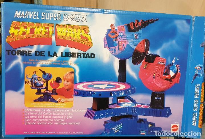 TORRE DE LA LIBERTAD SECRET WARS MARVEL SUPER HEROES MATTEL REF. 9392 CON CAJA AÑO 1985 (Juguetes - Figuras de Acción - Secret Wars)