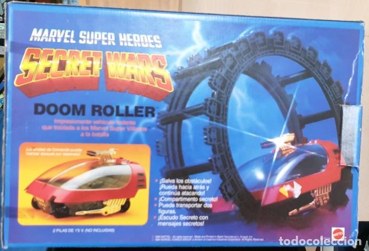 DOOM ROLLER SECRET WARS MARVEL SUPER HEROES MATTEL REF. 7474 CON CAJA (Juguetes - Figuras de Acción - Secret Wars)