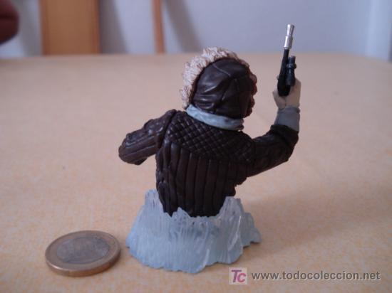 Figuras y Muñecos Star Wars: Mini busto de Gentle Giant de HAN SOLO en Hoth. Muy detallado. . - Foto 2 - 26339540