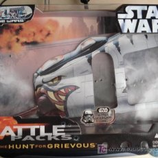Figuras y Muñecos Star Wars: CAJA STAR WARS BATTLE PACKS: THE HUNT FOR GRIEVOUS. CAJA ESPAÑOLA VACIA.. Lote 26447757
