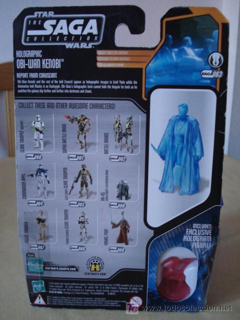 Figuras y Muñecos Star Wars: HOLOGRAPHIC OBI-WAN KENOBI. En blister USA. POSIBILIDAD DE AGRUPAR LOTES CON DESCUENTOS. - Foto 3 - 26979148