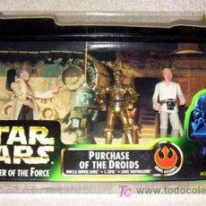 Figuras y Muñecos Star Wars: STAR WARS POTF 3 PACK MOVIE SCENE PURCHASE OF THE DROIDS. A ESTRENAR. CONTIENE 3 FIGURAS. Lote 17647597