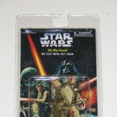Figuras y Muñecos Star Wars: STAR WARS PLACO TOYS LLAVERO MACIZO OBI WAN KENOBI SIN ABRIR.. Lote 26938910