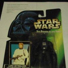 Figuras y Muñecos Star Wars: STAR WARS FIGURA RARA DE DARTH VADER EN CARTÓN DE LUKE (BOOTLEG). Lote 20720309