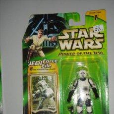 Figuras y Muñecos Star Wars: STAR WARS POWER OF THE JEDI - SCOUT TROOPER (IMPERIAL PATROL). Lote 21821022