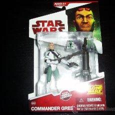 Figuras y Muñecos Star Wars: STAR WARS. THE CLONE WARS. COMMANDER GREE. CW09.NUEVO EN SU BLISTER ORIGINAL.. Lote 152349101