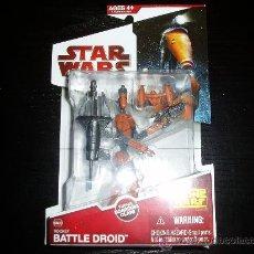 Figuras y Muñecos Star Wars: STAR WARS. THE CLONE WARS. BATTLE DROID. CW03.NUEVO EN SU BLISTER ORIGINAL.. Lote 144910889