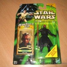 Figuren von Star Wars - Star Wars Power of the Jedi - Darth Maul Final Duel + 8 cards Hasbro año 2000 figura Precintada - 24238838
