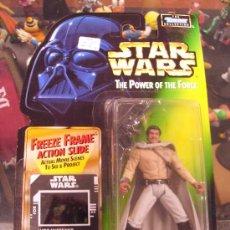 Figuras y Muñecos Star Wars: STAR WARS THE POWER OF THE FORCE - LANDO CALRISSIAN EN GENERAL´S GEAR CON BLASTER PISTOL. Lote 27236771