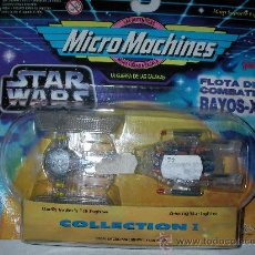 Figuras y Muñecos Star Wars: ANTIGUO BLISTER STAR WARS FLOTA DE COMBATE RAYOS X COLLECTION I MICRO MACHINES. Lote 27540143
