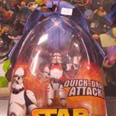 Figure e Bambolotti Star Wars: STAR WARS REVENGE OF THE SITH - CLONE TROOPER (QUICK-DRAW ATTACK). Lote 27541333