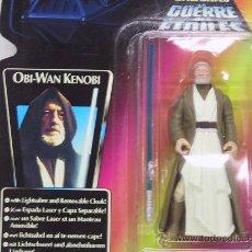 Figuras y Muñecos Star Wars: STAR WARS- OBI WAN KENOBI WITH REMOVABLE OAK AND LIGHT SABER - NUEVO!! - KENNER 1995. Lote 27541536