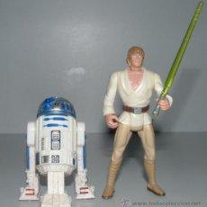 Figuras y Muñecos Star Wars: LOTE 2 FIGURAS LUKE SKYWALKER + R2D2 (LANZASABLES ) STAR WARS KENNER 1996. Lote 30050235